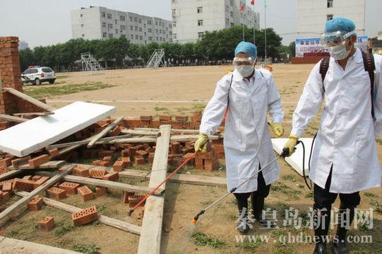 昌黎举行地震应急救援演练 模拟发生5.9级地震图片